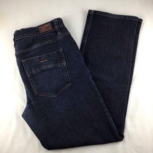 RSQ New York Slim Straight Dark Wash Size 34X30